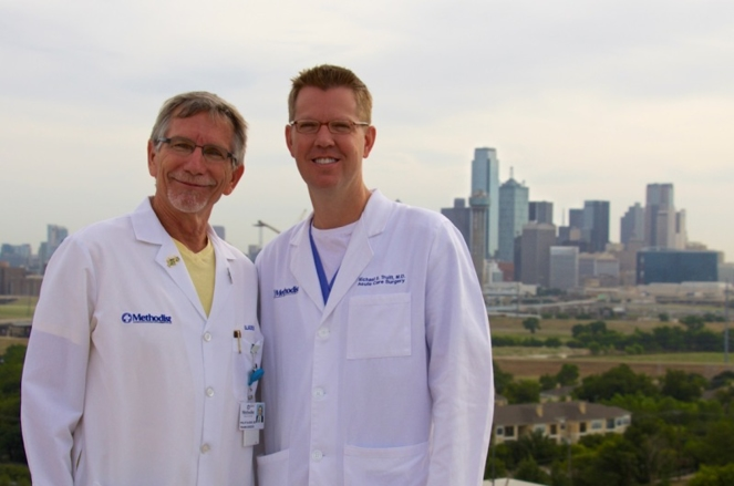 Dr. Sladek and Dr. Michael Truitt