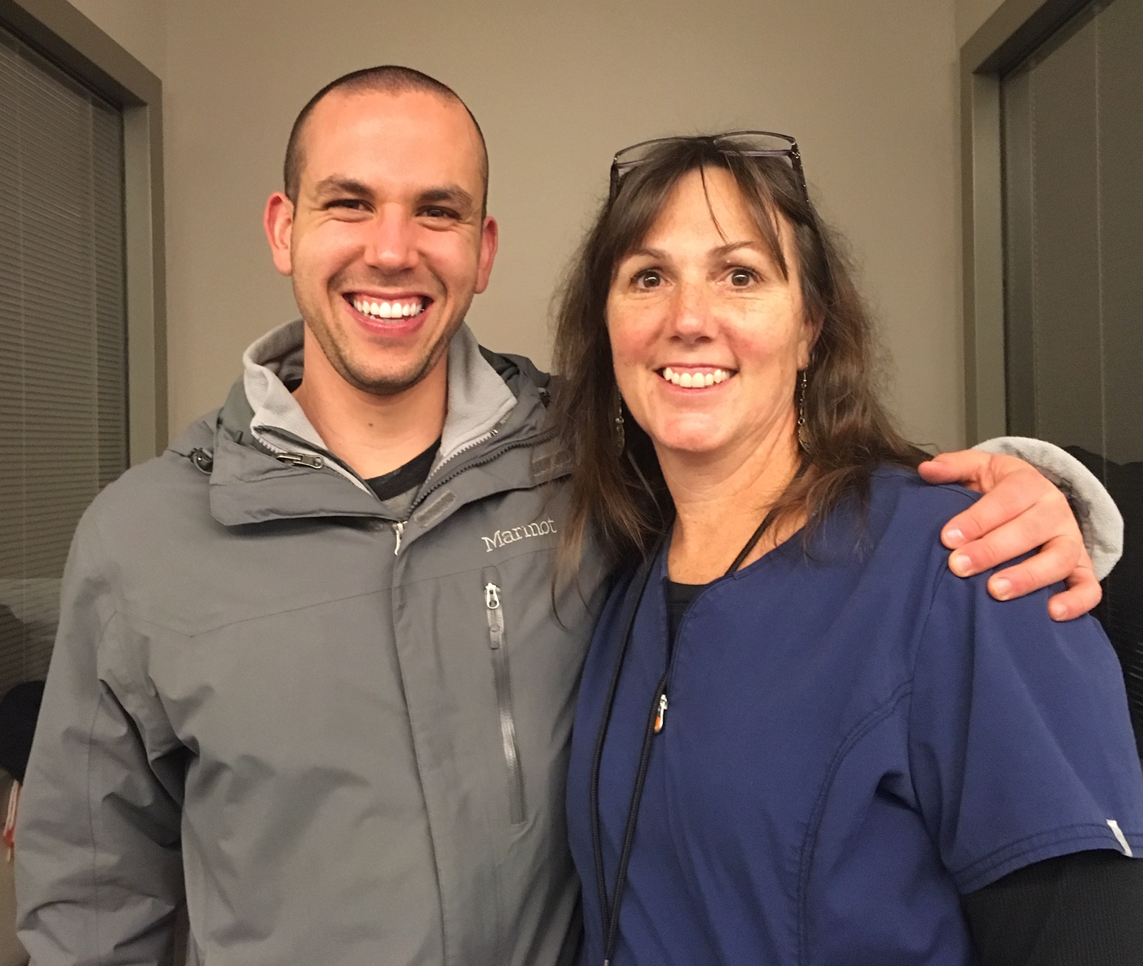 This past Christmas, Charlie Garcia visits his former ICU nurse Liz Browne at Methodist Richardson.