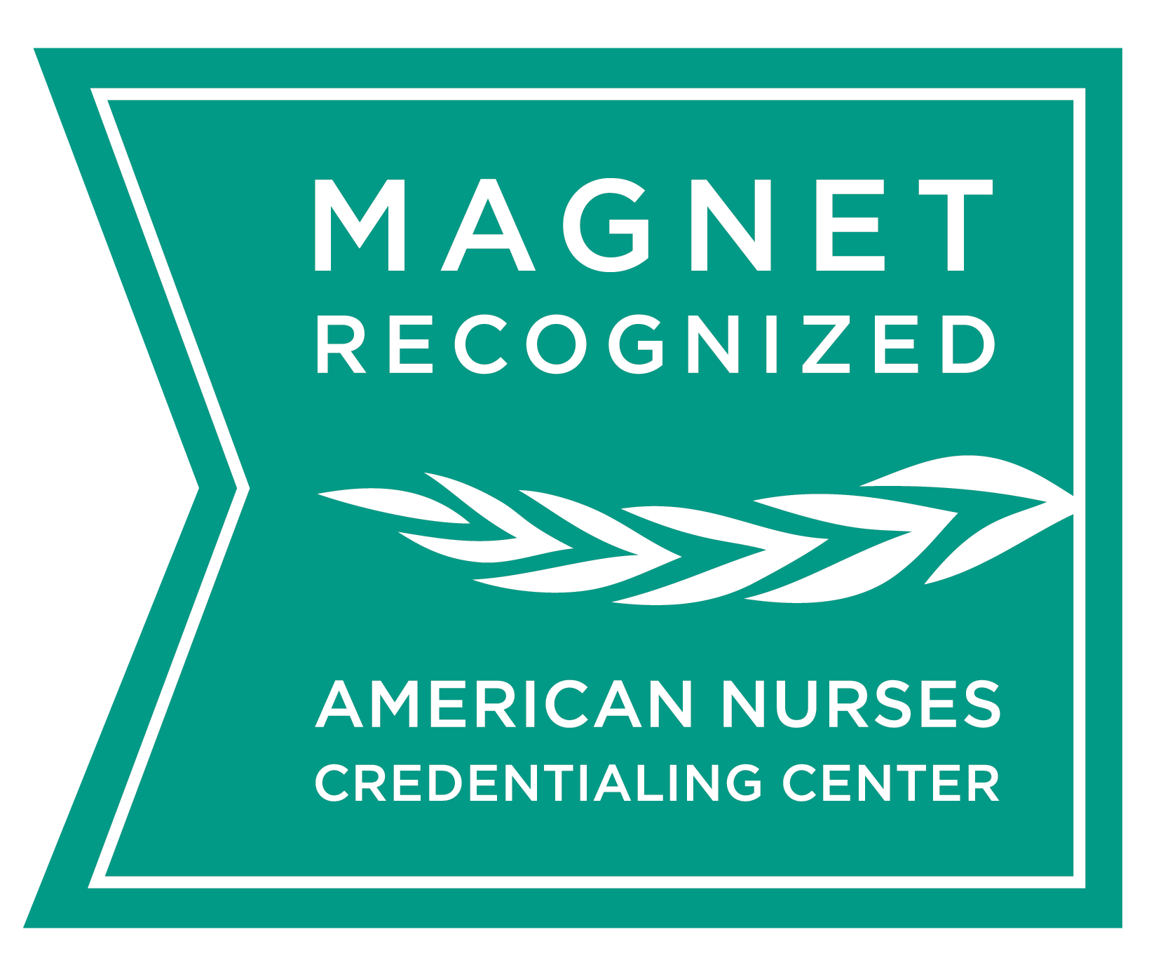 Magnet Recognized logo from the American Nurses Credentialing Center