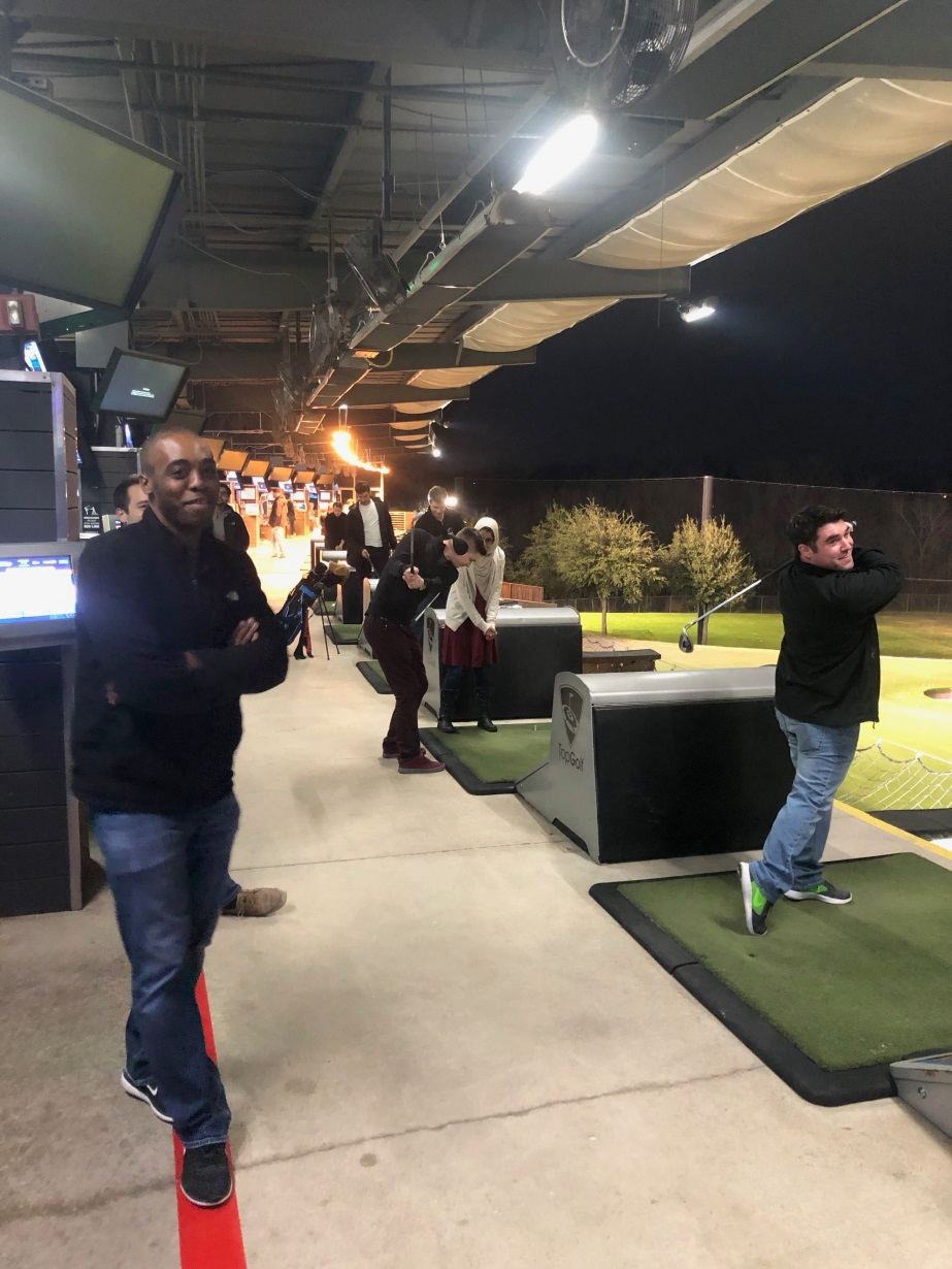 Internal Medicine Resident Program Residents at Top Golf